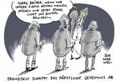 """""""Neue Instruktion hebt Abschaffung der Schweigepflicht auf: Papst schafft """"Päpstliches Geheimnis"""" bei Missbrauchsfällen ab"""