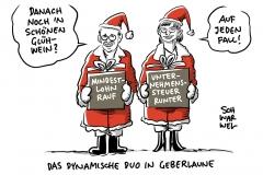 SPD-Chefs verhandlungsbereit: Mindestlohn rauf – Unternehmenssteuer runter?