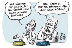 """Habeck für Aufnahme geflüchteter Kinder aus griechischen Lagern: Seehofer wirft Habeck """"unredliche Politik"""" vor"""