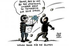 Gewalt in Leipzig: Ausschreitungen nach Demo gegen Verbot von #indymedia