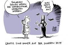 Streit um Sonnenstudios: Deutsche Krebshilfe fordert Solarien-Verbot wegen zu hoher Krebsgefahr