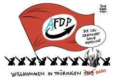 Neuer Ministerpräsident in Thüringen: FDP-Kandidat Kemmerich mit den Stimmen der AfD gewählt