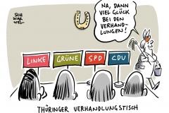 Ministerpräsidentenwahl in Thüringen: Rot-Rot-Grün und CDU treffen sich zu Gesprächen
