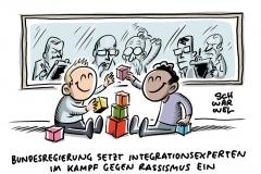 """Integrationsgipfel in Berlin: """"Rechte Gewalt ist keine Ausnahme"""" Bundesregierung setzt im Kampf gegen Rassismus auf Prävention und Demokratiearbeit"""