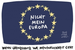 EU zu Flüchtlingen: Grenzschutz vor Menschlichkeit
