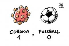 Coronavirus-Pandemie: Bundesliga und 2. Liga stellen Spielbetrieb ein