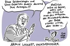 Corona-Krise und Shutdown in Deutschland: NRW-Ministerpräsident Laschet kritisiert Epidemiologen scharf
