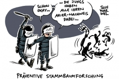 Struktureller Rassismus nach Stuttgarter Krawallnacht: Polizei betreibt Stammbaumforschung der Tatverdächtigen
