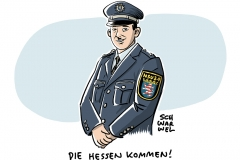 Wegen Droh-Mail-Affäre: Hessens Polizeipräsident Münch zurückgetreten