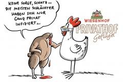 Corona-Ausbruch in Wiesenhof-Geflügelschlachthof: Laut Landrat Mitarbeiter meist privat infiziert