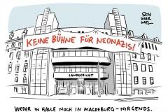 Halle-Prozess am Landgericht Magdeburg: Neonazistischer Attentäter grinst, als er sich im Video sieht