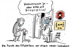 Pandemie in Deutschland: Handel bittet um mehr Corona-Disziplin