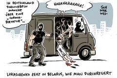 Machtkampf in Belarus: Weiterer Oppositioneller von Maskierten verschleppt