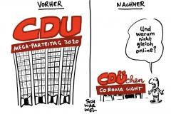 CDU-Parteitag als abgespeckten Ein-Tages-Treffen: Per Corona-Notprogramm zum neuen Chef