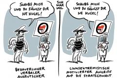 """""""Schubs mich und du fängst dir ne Kugel"""": Kretschmer verteidigt Polizeibeamten nach Drohung gegen Demonstranten in Dresden"""