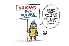 Nach einer sechsmonatigen Corona-Pause: Erste Fridays for future-Kundgebung für Klimaschutz mit Abstand