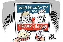 Würdeloses Trump-Biden-Duell: Schlagabtausch mit falschen Behauptungen