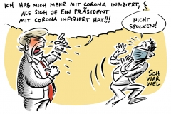 Corona im Wahlkampf ums Weißen Haus: US-Präsident Trump mit Corona infiziert