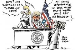 Zweites TV-Duell in den USA geplatzt: Trump lehnt virtuelle Debatte ab