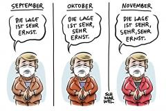 """Corona-Pandemie """"sehr, sehr ernst"""": Merkel zieht Beratung mit Ministerpräsidenten vor"""