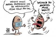 Sorge wegen Corona-Zahlen war berechtigt: Merkel warnte vor zwei Wochen vor 19.200 Neuinfektionen täglich