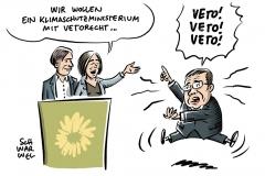 Sofortprogramm zur Bundestagswahl: Grüne wollen Klimaschutzministerium mit Vetorecht