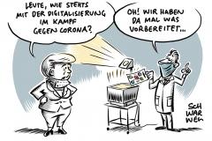 Merkel zieht kritische Corona-Bilanz: Zu viel Bürokratie, zu wenig Digitalisierung