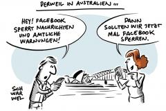 Streit um Mediengesetz: Facebook sperrt Nachrichten in Australien
