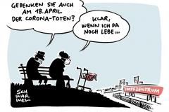 Bundespräsident Steinmeier: Am 18. April der Corona-Toten gedenken