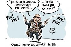 Olaf Scholz im Wahlkampfmodus: Ab Ende März bis zu 10 Millionen Impfungen pro Woche