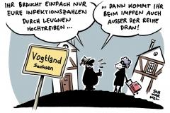 Sachsens Gesundheitsministerin Petra Köpping nach Kabinettssitzung: Vogtland hebt Impfreihenfolge auf