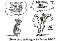Landesregierung lockert ab Freitag: Sachsen erlaubt Einkaufen ohne Maske