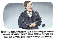 Bei Besuch mit Bundespräsident: Laschet bittet um Entschuldigung für Lachen im Katastrophengebiet