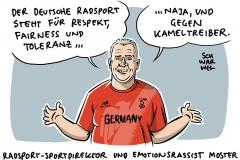 """Rassismus-Eklat beim Radsport: """"Hol die Kameltreiber"""" – BDR-Sportdirektor Moster in der Kritik"""