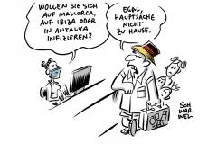 Robert Koch-Institut: Deutsche infizieren sich zunehmend im Ausland, Reiserückkehrer: Testpflicht ab Sonntag