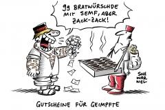 Impfaktion in Sonneberg: Impf-Bratwurst löst Hype aus