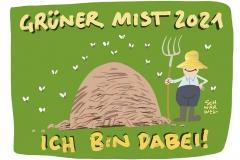 """Bundestagswahlkampf mit Plakatkampagne """"Grüner Mist 2021"""" Negativ-Kampagne gegen Grüne"""