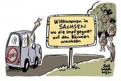 """Kampf mit """"Impfturbo"""" gegen Coronavirus: Dürftigen Impfquoten in Sachsen, Sachsen-Anhalt und Thüringen"""