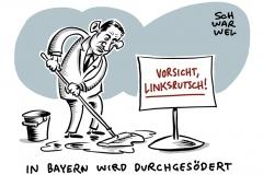 """CSU sieht Gefahr durch """"Linksrutsch"""": Söder: """"Platz eins oder Opposition"""""""
