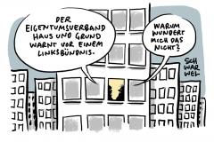 Eigentümerverband Haus & Grund warnt vor Links-Bündnis: Mieterbund widerspricht angeblichem Investitionshemmnis