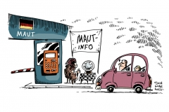 schwarwel-karikatur-maut-auto-verabschiedung