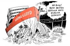 schwarwel-karikatur-hapag-lloyd-schiff-dax-boersengang