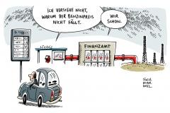 karikatur-schwarwel-benzinpreis-benzin-finanzamt-steuer-oeko