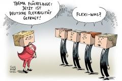 schwarwel-karikatur-merkel-fluechtlinge-fluechtlingsfrage-fluechtlingspolitik-bundesregierung
