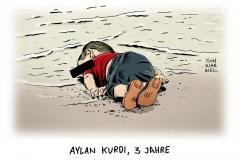 schwarwel-karikatur-aylankurdi-fluechtlinge