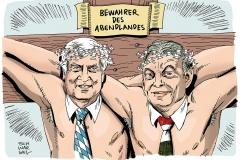 schwarwel-karikatur-nato-natodraht-seehofer-fluechtlingskrise-bayern
