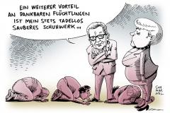 schwarwel-karikatur-merkel-fluechtlinge-fluechtlingspolitik