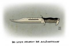 schwarwel-karikatur-angriff-auslaenderfeinde-auslaenderhass-messer-herniette-reker-auslaenderfeinde