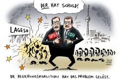 karikatur-schwarwel-lageso-fluechtlinge-berlin-spd-cdu