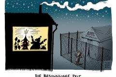 karikatur-schwarwel-asyl-unterkunft-familie-weihnachten